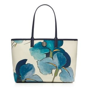 Blue Floral Tory Burch Tote